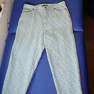Vintage Liz Wear textured high waist blue jeans
